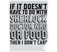 Sherlock Doctor Who and Food Poster