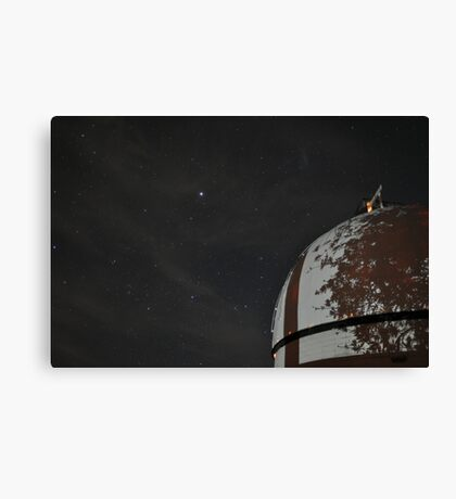 MBO Dome with Sirius and tree shadow Canvas Print