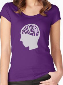 This is Your Brain on Thinking (Color: Intellectual Grey) Women's Fitted Scoop T-Shirt