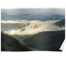 Megalong Valley in Mist Poster