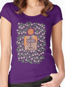 Love Found Amidst Daisies Women's Fitted Scoop T-Shirt