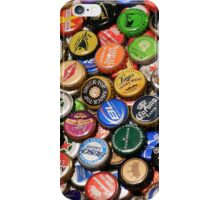 Beer bottle caps iPhone Case/Skin