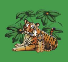 Jungle Tigers One Piece - Short Sleeve
