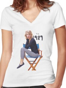 Taylor Swift - ts 1989 Women's Fitted V-Neck T-Shirt