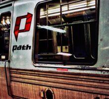 Port Authority Trans Hudson Train: Grunge/Underground Sticker