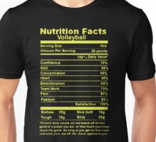 Volleyball Nutritional Facts Unisex T-Shirt