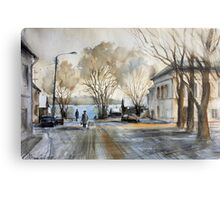 Late Autumn in the Town Valday Metal Print