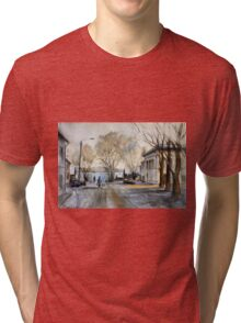 Late Autumn in the Town Valday Tri-blend T-Shirt