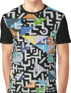 Pieces - Mixed Media Painting Graphic T-Shirt