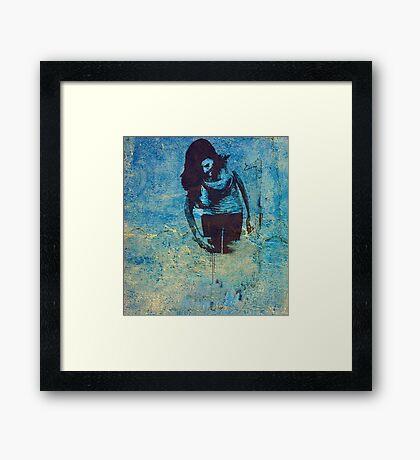 Spilt Paint Framed Print