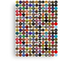 Beer bottle caps 2 Canvas Print