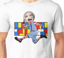 Jumping Baseball Head Man - Colours Unisex T-Shirt