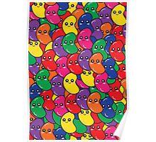 Happy Kawaii Jellybeans Poster