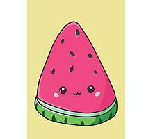 Cute Kawaii Watermelon Photographic Print