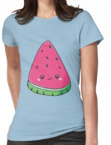Cute Kawaii Watermelon Womens Fitted T-Shirt