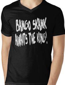 Bango Skank Awaits The King (white variant) Mens V-Neck T-Shirt