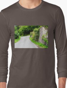 English Country Lane in Devon Long Sleeve T-Shirt