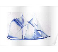 Dreamy yacht making her biggest sail. Poster