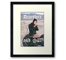Diarrhea and chill? Framed Print