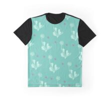 Spider Daisies (pink + green) Graphic T-Shirt