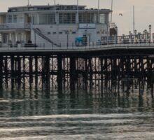 Worthing Pier under a winter sky. Sticker