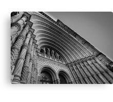 Museum entrance in black and white. Canvas Print