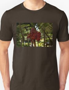 Glossy Jewel in the Jungle - Red Torch Ginger Lily T-Shirt