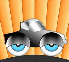 Cartoon Car With Eyes by Phil Perkins