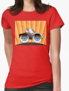Cartoon Car With Eyes Womens Fitted T-Shirt
