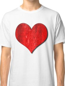 Heart With Grungy Bevelled Texture Classic T-Shirt