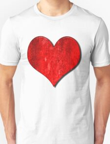 Heart With Grungy Bevelled Texture Unisex T-Shirt