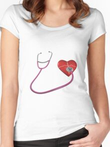 In A Heartbeat Women's Fitted Scoop T-Shirt