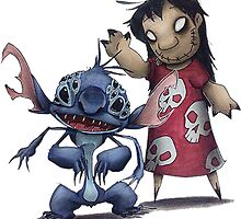 CREEPY LILO AND STITCH by daniellacurcio