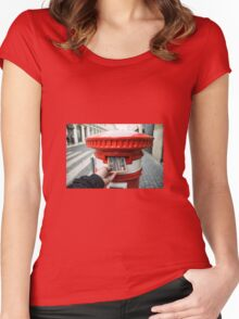 post cork  Women's Fitted Scoop T-Shirt