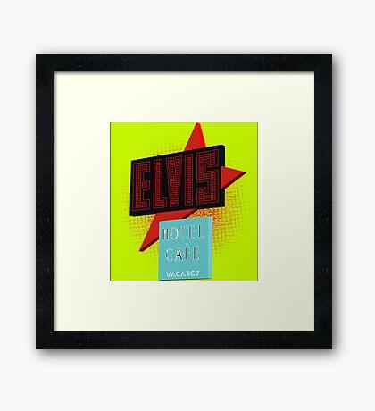 Elvis Motel Framed Print