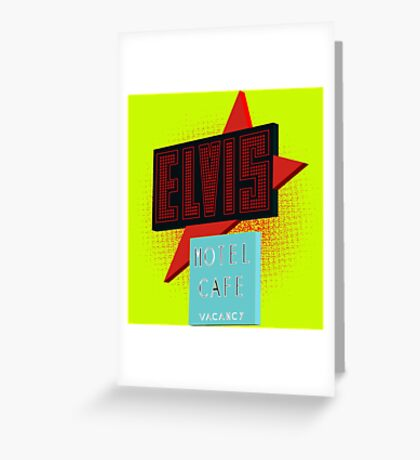 Elvis Motel Greeting Card