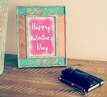 Photo frame with message HAPPY VALENTINE'S DAY by Stanciuc