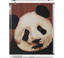 Cute panda wooden marquetry picture iPad Case/Skin