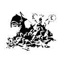 Banksy refugee calais by 2piu2design
