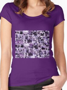 Bananarama Collage in Mauve - FanArt Women's Fitted Scoop T-Shirt
