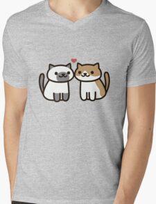 Neko Atsume - Love Mens V-Neck T-Shirt