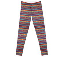 Striped Ethnic Background Leggings