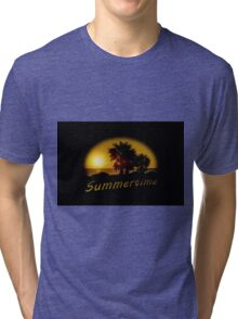 Sunset Scene at the Coast of Montevideo Uruguay Tri-blend T-Shirt