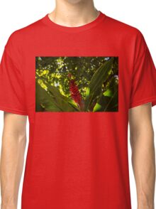 Bold Jewel in the Jungle - Red Ginger in Hawaii Classic T-Shirt