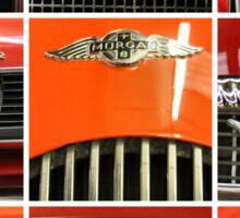 Nine Red Sports Cars Sticker