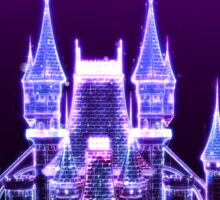 Glowing Fantasy Castle Sticker
