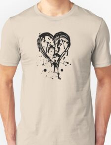 Black ink heart Unisex T-Shirt
