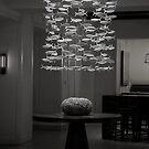 Glass Fish in Flight by Brenda Dow