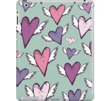 Romantic hearts with wings  iPad Case/Skin