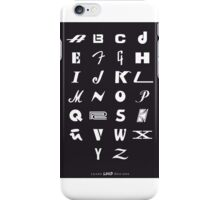 Kids ABCs Poster of Iconic Music Brands iPhone Case/Skin
